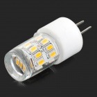 HH40 G4 2W 180lm 3200K 27-SMD 3014 LED Warm White Light Bulb - White + Translucent (AC 220~240V)