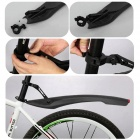 "GUB 899 DIY 26"" Quick Disassembling Bike Bicycle Mudguard w/ LED Tail Light - Black"