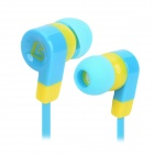 SONGQU SQ-QQ2 Universal 3.5mm In-Ear Earphone - Blue + Yellow