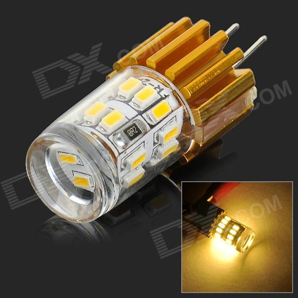 G4 3W 150lm 4000K 24-SMD 3014 LED Warm White Light Lamp - White + Golden (DC 12V)