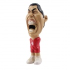 3D Cute Cartoon Football Player Shaped Bottle Opener - Black + Red