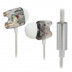 TTPOD T1-Enhanced High Quality 3.5mm Hi-Fi In-Ear Earphone - Transparent + Silver