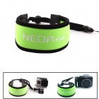 NEOpine G-552 Nylon Floaty Dive Wrist Strap for Gopro Hero 4/ 3+ / 3 / 2 + Cameras - Green + Black