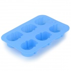 6-Compartment Chocolate / Ice Silicone Mold - Blue