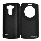 DULISIMAI Ultra-thin Protective Flip-Open PU Leather Case for LG G3 - Black