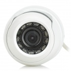 "1/4"" CMOS 700P 3.6mm Lens Wired CCTV Camera w/ 12-IR-LED - White (PAL)"