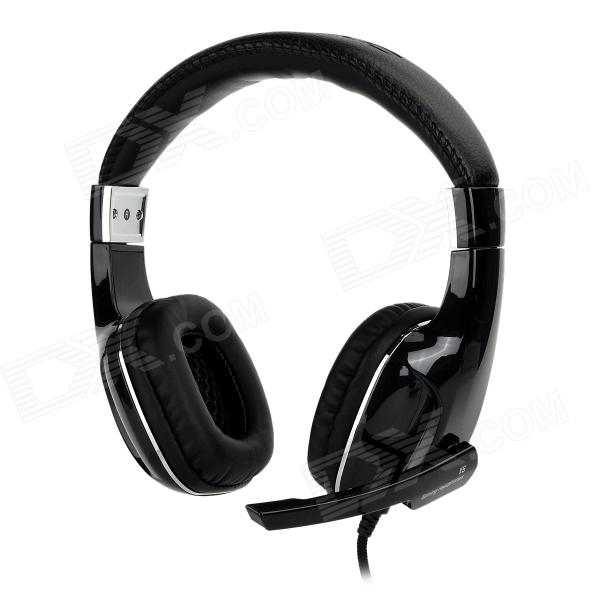OVANN X5 Wired Stereo Gaming Headphone w/ Mic - Black + Silver
