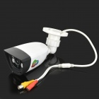 "JIN JN-3403FM Waterproof 1/4"" CMOS 1000TVL HD CCTV Camera w/ 4-IR-LED / IR-CUT - White + Black (PAL)"