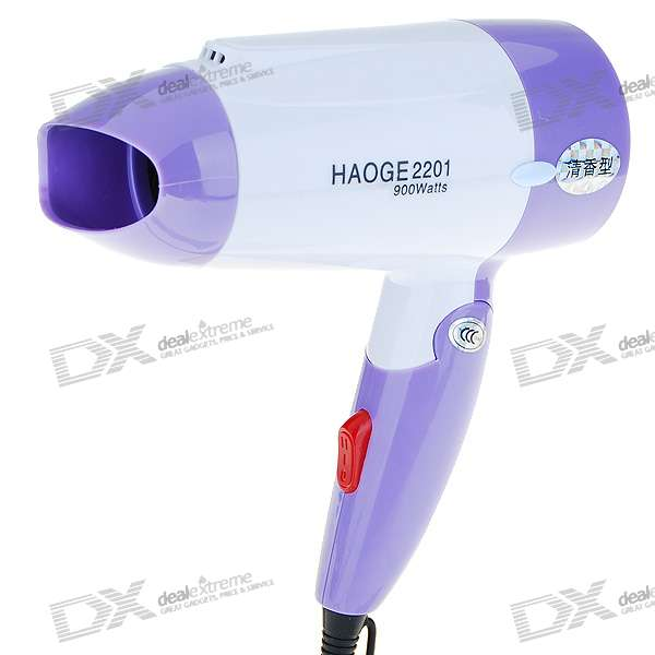 900W Foldable Cool/Hot Hair Dryer - Color Assorted (220V AC)