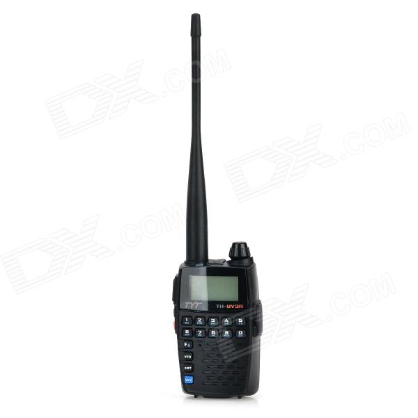 TYT TH-UV3R1.8 Display Dual Band 128-CH Walkie Talkie / FM Radio - Black