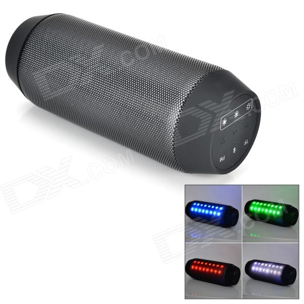 BQ-615 Wireless Bluetooth V3.0 Speaker w/ 3.5mm / Micro USB / Microphone / FM / TF - Black portable professional 2 4g wireless voice amplifier megaphone booster amplifier speaker wireless microphone fm radio mp3 playing