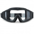 Windproof PC Frame PC Lens UV400 Protection Sport Goggles - Black