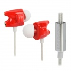 TTPOD T1-Enhanced High Quality Hi-Fi 3.5mm In-Ear Earphone Red + Silver + White