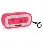 HY HY-BT74 Bluetooth V2.0 Speaker w/ 3.5mm / USB 2.0 / Microphone / FM / TF - Deep Pink + White