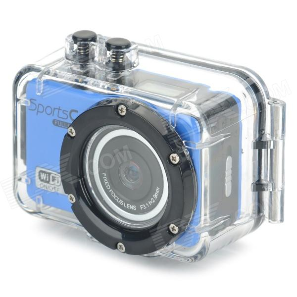 MO.MAT CAM F39 0.65'' LCD 120' Wide Angle 5.0MP 1/3'' CMOS 1080P Full HD Sport Camera - Blue