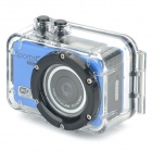 MO.MAT CAM F39 0.65'' LCD 120' Wide Angle 5.0MP 2/3'' CMOS 1080P Full HD Sport Camera - Blue