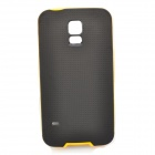 Protective TPU + PC Back Case for Samsung Galaxy S5 - Black + Yellow