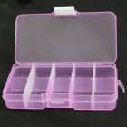 TaiShen 10-Segment Plastic Gadgets Batteries Storage Box Case - Translucent Purple