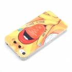 Sexy Girl Print Pattern Protective Plastic Hard Back Case Cover for IPHONE 4 / 4S - Red + Yellow