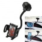 Universal Car 360' Rotatable Super Long Suction Cup Holder for Phone / DVR / GPS / Tablet PC - Black
