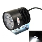 exLED 12W 72lm 4-LED White Light Headlamp Spotlight for Motorcycle / Electric Car - Black