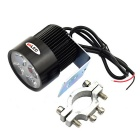 72lm exLED 12W Faro luz blanca 4-LED Spotlight para la motocicleta / Electric Car - negro