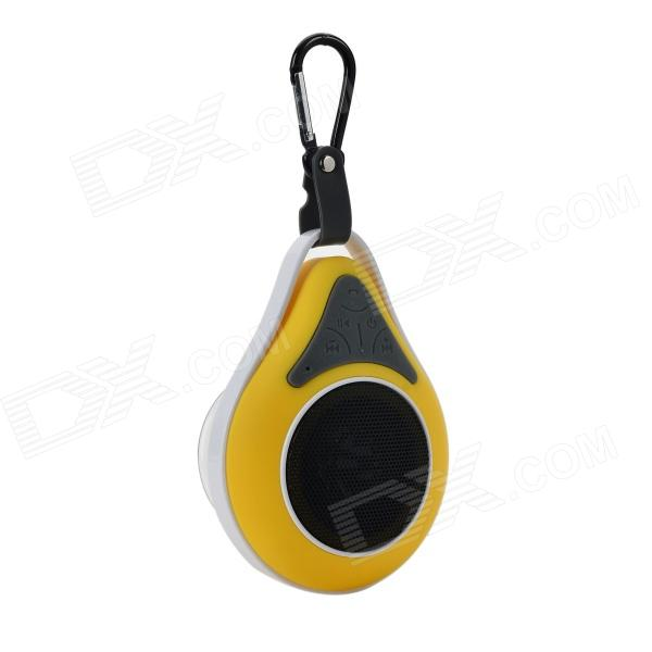 Waterproof Wireless Bluetooth V4.0 Car Speaker w/ Suction Cup - Yellow + White + Black portable rechargeable 2 channel speaker w suction cup black white