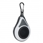 Waterproof Wireless Bluetooth V4.0 Car Speaker w/ Suction Cup - White + Black
