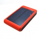 "Portable ""15000mAh"" Li-polímero bateria Dual-USB Solar Powered Power Bank w / LED Indicador - Orange"