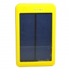 "Portable ""15000mAh"" Li-polymer Battery Dual-USB Solar Powered Power Bank w/ LED Indicator - Yellow"