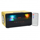 HY HY-3033 Rectangle Touch Speaker w/ Mini USB / USB 2.0 / 3.5mm / TF / FM - Yellow + Black + White