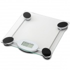 AOEOM 2.5'' LCD Digital Body Weight Scale - Transparent + Black (1 x CR2032)