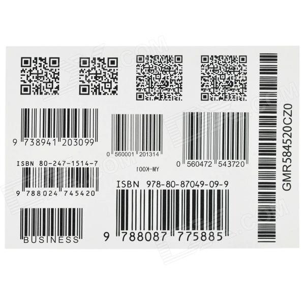 цены YM-K001 Fashionable Waterproof Code-barres + Code QR Pattern Tattoo Sticker - Black + White