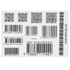 YM-K001 Fashionable Waterproof Code-barres + Code QR Pattern Tattoo Sticker - Black + White