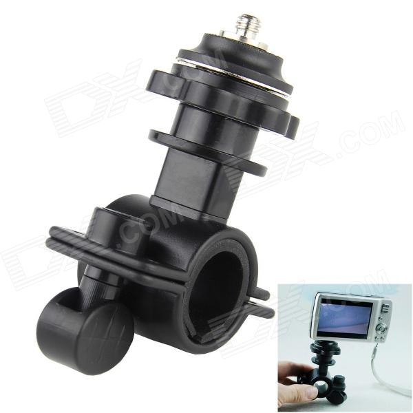 1/4 Motorcycle Bike Bicycle ABS Mount Holder for DV / DVR / Camera - Black toz bike motorcycle handlebar seatpost mount holder w 1 4 screw for gopro sj4000 other dv
