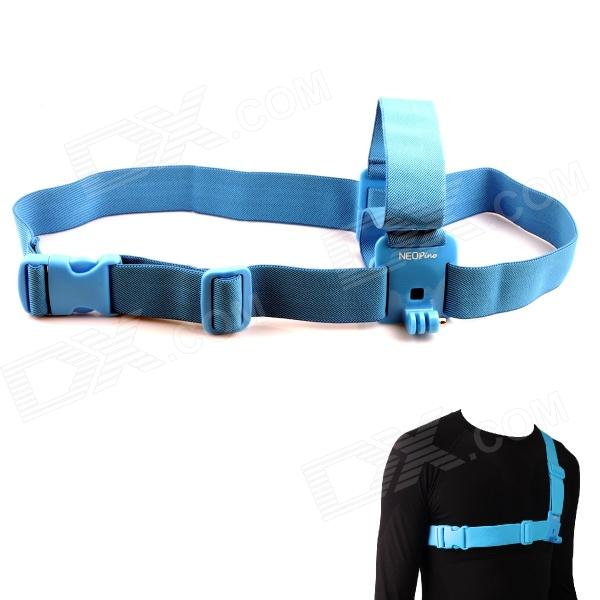 NEOpine G-547B Stylish Chest Strap Belt / Shoulder Harness Mount for Gopro Hero 4/ 3+ / 3 / 2 - Blue - DXMounting Accessories<br>To carry your GoPro camera; Compatible with GoPro HERO 2/3/3+<br>