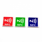 NXP Ntag216 NFC Tags Stickers for Cellhone - Red + Green + Blue (3PCS)