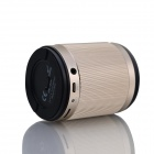 MOMI i35 transportabel 3,5 mm 2.0-CH Bluetooth V3.0 høyttaler med mikrofon / TF / Micro USB - Golden