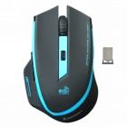 Sunsonny SR-8509III Wireless 500/1000/1600DPI Blue LED Color 6-Button Gaming Mouse - Black