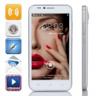 "S3 MTK6572 Dual-core Android 4.4.2 WCDMA Bar Phone w/ 5.0"", 4GB ROM, Wi-Fi, FM, GPS - White + Silver"