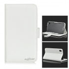 Protective Flip-Open PU Leather Case w/ Card Slots / Stylus for Sony Xperia Z2 - White