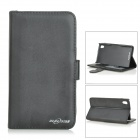 Buy Protective Flip-Open PU Leather Case Card Slots / Stylus Sony Xperia Z2 - Black