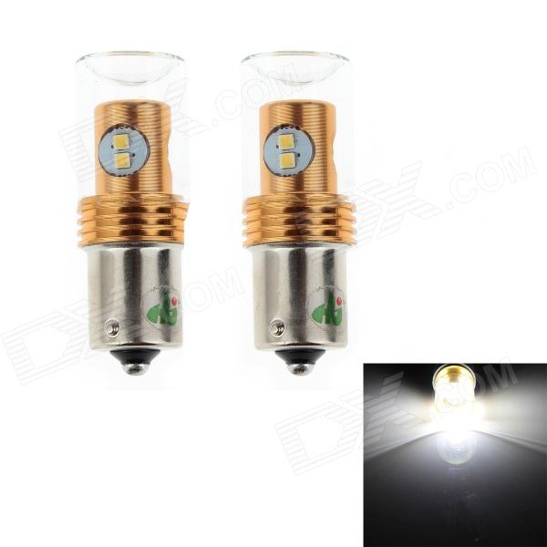 HJ 1156 8W 600lm 6500K 8-SMD 2323 LED White Light Steering Lamp Bulb for Car (12~24V, 2 PCS) hj h16 8w 600lm 6500k 8 smd 2323 led white steering reversing lamp for car 12 24v 2pcs
