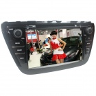 "LsqSTAR 8"" Touch Screen 2-Din Car DVD Player w/ GPS FM RDS BT SWC iPod 6CDC AUX for Suzuki SX4 2014"