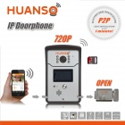 "HUANSO CT518W 1/4"" CMOS 1.0MP Smart Wi-Fi IP Video Door Phone w/ 6-IR-LED - Silver (PAL / NTSC)"