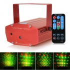 HML 226 12-Pattern 50mW Green + 100mW Red Laser Stage Lighting Projector w/18-Key RC / Tripod - Red