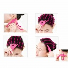 Hand Style Relaxation Resin Head Neck Massager - Deep Pink