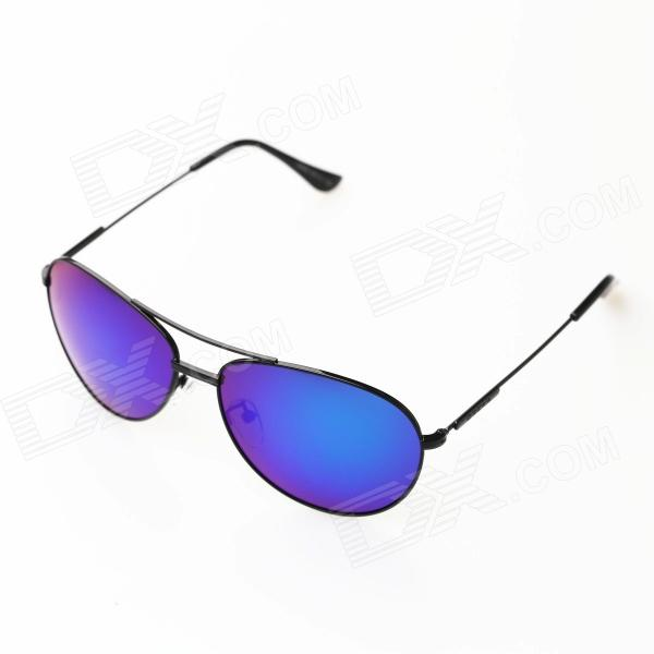 OREKA OR969 Driving UV400 Protection High-nickel Alloy Frame Blue REVO Lens Polarized Sunglasses oreka children s cool cellulose acetate frame blue revo lens uv400 sunglasses brown blue