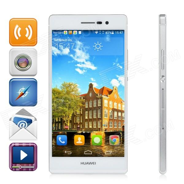 HUAWEI Ascend P7 Android OS 4.4 Quad-core Bar Phone w/ 5.0″, 13MP Camera, RAM 2GB, ROM 16GB – White