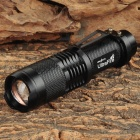 Cree XM-L T6 600lm 5-Mode White Light Zooming Flashlight - Black (1 x 18650)